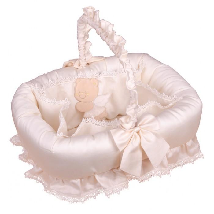 Аксессуары для детской комнаты Italbaby Плетеная корзина Sweet Angel корзина для переноски italbaby peluche крем 230 0007 6