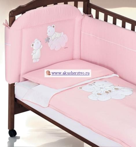 Постельные принадлежности , Комплекты в кроватку Italbaby Nuvola (5 предметов) арт: 15728 -  Комплекты в кроватку
