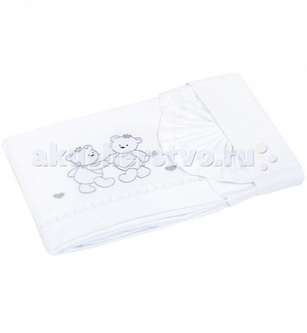 Постельное белье Italbaby Principini (3 предмета)Principini (3 предмета)В комплект входит простыня на матрас, наволочка и простыня с вышивкой и аппликациями (ручная работа).   Все белье изготовлено из 100% чистейшего хлопка.  Размеры:  простыня на матрас: 60 х 130 см  простыня с вышивкой и аппликацией: 115 х 175 см  наволочка: 40 х 60 см<br>
