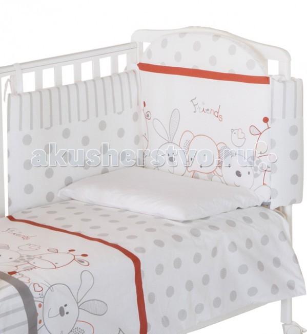 Комплект в кроватку Italbaby Rabbit (5 предметов)