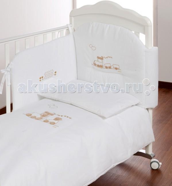 Комплекты в кроватку Italbaby Trenino (5 предметов) корзина для переноски italbaby peluche крем 230 0007 6