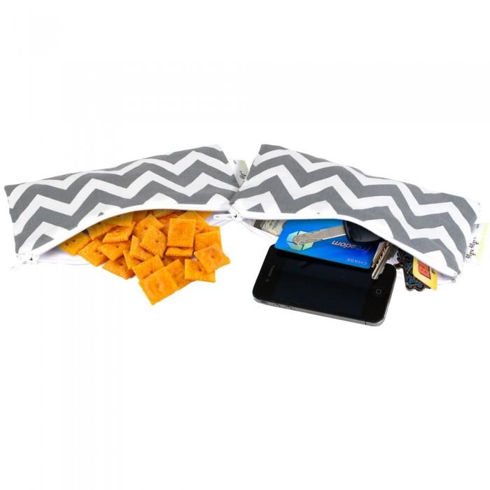 Сумки для мамы Itzy Ritzy Комплект сумочек для снеков Snack Happens Mini 2 шт.