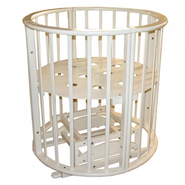 Детская мебель , Кроватки-трансформеры Ивашка Мой Малыш круглая-овальная с маятником Мишель арт: 382094 -  Кроватки-трансформеры