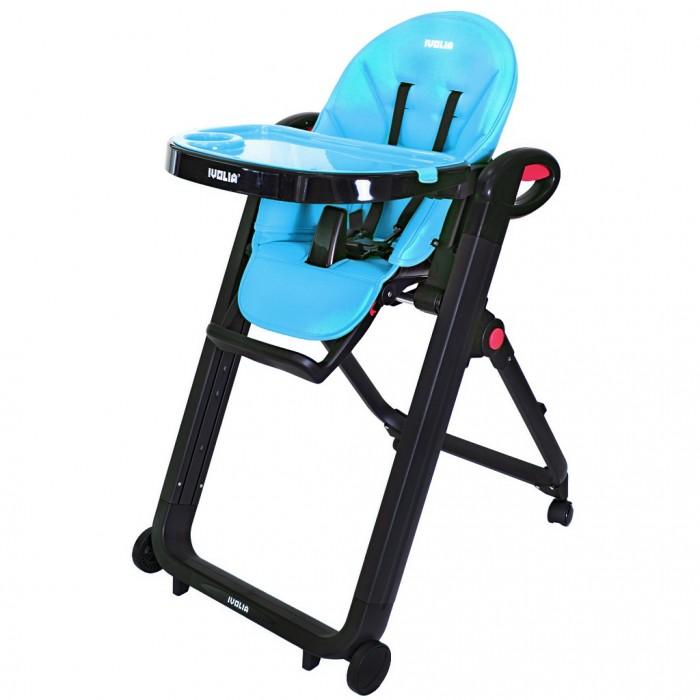 Стульчик для кормления Ivolia Love 02Love 02Стульчик для кормления IVOLIA LOVE 02 4 колеса  Впервые стульчик смело можно рекомендовать для детей от 6 месяцев, потому что у стульчика есть горизонтальное положение сиденья. Сиденье очень удобное. Эргономика - 10 баллов. Рама из авиационного алюминия, покрытая особым матовым черным покрытием.   В производстве стульчика использованы самые современные высококачественные материалы: матовый пластик с тефлоновым покрытием против царапин (царапины будут не видны и стульчик долго не потеряет свой первоначальный облик); экокожа, из которой сделан чехол на сиденье. За ней очень легко и практично ухаживать.   Экокожа - материал из микропористого дышащего полиуретана, нанесенного на тканевую основу из натуральных или полиэфирных материалов. Уникальный материал, обладающий всеми лучшими качествами натуральной кожи и не имеющий ее недостатков. Имеет прекрасные гигиенические свойства, не требует специального ухода, прочен, легок и износостоек. Визуально не отличим от натуральной кожи. Долговечные эксплуатационные свойства.  Стульчик для кормления IVOLIA- трансформер, который может трансформироваться по мере того, как растет Ваш ребенок: 6 месяцев - это удобный шезлонг с 6 месяцев - стульчик для кормления, игры и отдыха. с 12 месяцев - стульчик без подноса, который можно ставить за стол, чтобы обедать со всей семьей. Особенности стульчика IVOLIA LOVE: стильный дизайн самые дорогие высокотехнологичные материалы. Один только чехол на сиденье из экокожи покорит своей красотой и практичностью. система торможения STOP&GO. Чтобы передвинуть стульчик, нажмите обе красные кнопки рычага ручного тормоза. Нажимая на большие кнопки в виде ручек, Вы можете передвигать стульчик.   Отпустив кнопки, стульчик сразу же затормозит. Это очень удобно для транспортировки стульчика по комнате. удобное сиденье, регулируемое до горизонтального положения. большие передние колеса, задние колеса крутятся на 360 градусов, что делает стул очень маневренным. большо