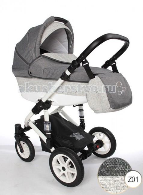 Коляска Izacco Z1 2 в 1Z1 2 в 1Коляска Izacco Z1 2 в 1, это компактная и маневренная модель, которая подарит малышу комфорт, а маме чувство уверенности на любой дороге. Izacco Z1 2 в 1 укомплектована просторной спальной корзиной и раскладным сидением для прогулки. Конструкция шасси детской коляски позволяет устанавливать на шасси и автомобильное кресло для детей до года.  Коляска представлена в натуральных оттенках. Всесезонная модель. Варианты обивки: льняное полотно, искусственная кожа, джинс, жаккард.  Люлька: предназначена для младенцев до полугода, максимальный вес которых не должен превышать 9 кг прочный пластиковый каркас с высокими, надежно защищающими бортами внутри люлька выстлана матрасиком с чехлом из хлопковой ткани объемный капюшон над изголовьем бесшумно складывается, дополнен антимоскитной вставкой, козырьком, удобной ручкой-переноской  Прогулочное сидение: ориентировано на малышей от полугода и до 2-3 лет удобный внутренний размер для карапуза любой комплекции анатомически правильная жесткая поддержка спины спинка сидения регулируется и фиксируется в удобном положении защита малыша во время движения: бампер-поручень, разделитель для ног, удерживающие ремни внутри коляски  Шасси: рама собрана из пластика и облегченного алюминия, передняя ось колес заужена удобная ручка с механизмом регулятора высоты компактная система сложения<br>