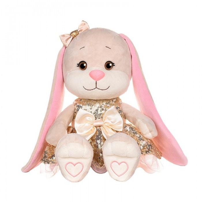 Купить Мягкие игрушки, Мягкая игрушка Jack&Lin Зайка в платьице с пайетками 20 см