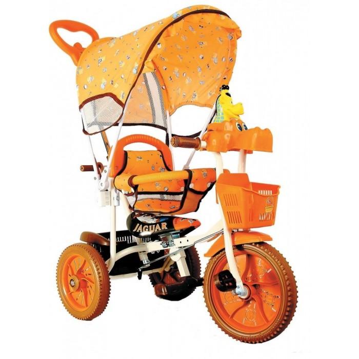 Велосипед трехколесный Jaguar MS-0537LMS-0537LТрехколесный велосипед Jaguar MS-0537L для детей на возраст от 9 месяцев до 2 лет. Благодаря наличию съемной крыши-тента данный велосипед прекрасно подойдет для прогулок в солнечную яркую погоду.  Колеса из вспененного материала обеспечат плавное, легкое движение практически по любой дороге.   Комплектация: Удлиненная рама Ручка управляющая передним колесом Мягкая резина Корзинка 2 шт. Страховочный обод и сетка Подножка Тент Регулировка седла.  Габариты, Д/Ш/В70/41/86 Страна производитель: Тайвань<br>