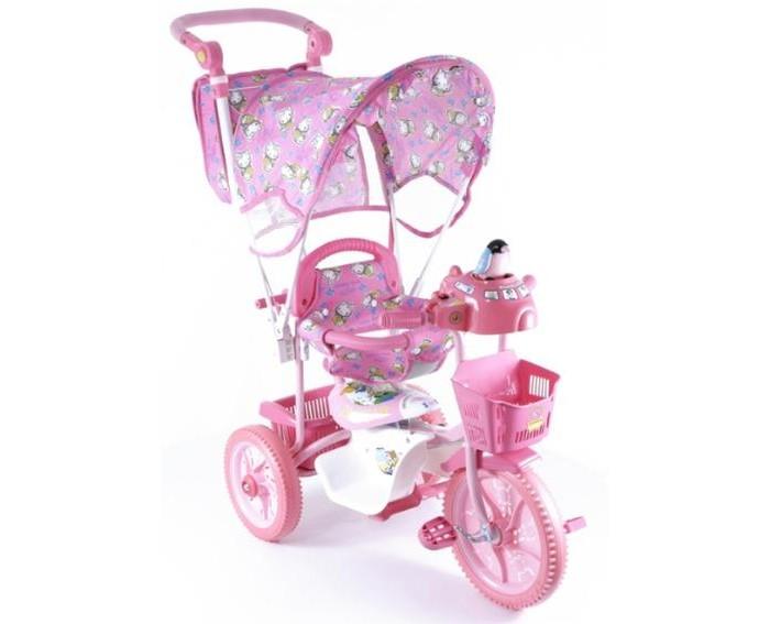 Велосипед трехколесный Jaguar MS-0737 КMS-0737 КТрехколесный велосипед Jaguar MS-0737 К дл детей на возраст от 6 месцев до 2 лет.  Комплектаци: - Тент - Музыкально-светова кнопка - Увеличенные колеса - Удлененна рама - Колсочна ручка управлща передним колесом - Мгка резина - Корзинка 2 шт. - Страховочный обод и сетка - Регулировка седла.<br>