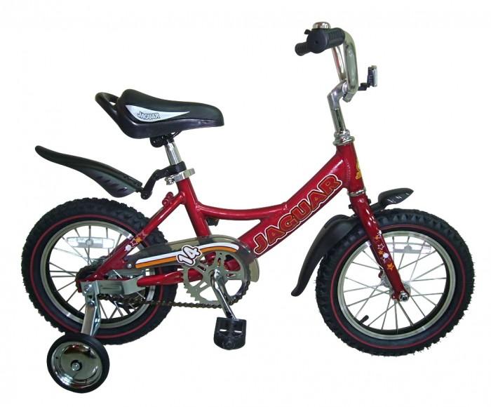 Велосипед двухколесный Jaguar MS-A142MS-A142Двухколесный велосипед Jaguar MS-A142 Alu 14 для детей от 3-х до 5-ти лет  Характеристики: размер колеса: 14 дюймов алюминевая L-рама (AL 7005 уменьшает вес велосипеда) пневматические шины с крупным протектором регулируемое по высоте сиденье и руль ножной тормоз пластиковые крылья алюминиевые точеные обода, руль и вынос руля однокомпонентный кованый шатун пластиковая защита цепи (полностью закрыта цепь) приставные колеса светоотражающие катафоты цвета: рама - хром,cиний,красный,зеленый,розовый  Размеры (дхшхв): 105 х 42 х 52 см Вес: 9 кг<br>