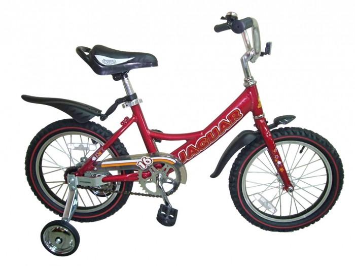 Велосипед двухколесный Jaguar MS-A162MS-A162Двухколесный велосипед Jaguar MS-162 Alu для детей от 4-х до 6-ти лет  Характеристики: размер колеса: 16 дюймов алюминевая L-рама (AL 7005 уменьшает вес велосипеда) пневматические шины с крупным протектором регулируемое по высоте сиденье и руль ножной тормоз пластиковые крылья алюминиевые точеные обода, руль и вынос руля однокомпонентный кованый шатун пластиковая защита цепи (полностью закрыта цепь) приставные колеса светоотражающие катафоты цвета: рама - хром,cиний,красный,зеленый,розовый  Размеры (дхшхв): 110 х 42 х 56 см Вес: 10 кг<br>