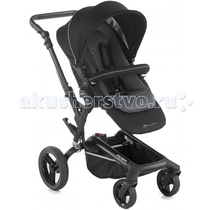 Прогулочная коляска Jane RiderRiderПрогулочная коляска Jane Rider модульного типа для детей от 6 месяцев (возможна установка автокресла или люльки для новорожденного).   Данная коляска является вершиной гаммы изделй в каталоге компании Jane. Ее шасси овального сечения из аллодированного алюминия, имеет новаторскую систему складывания, при которой размер коляски уменьшается на 30% по сравнению с размерами разложенной коляски.   Это одна из самых маленьких колясок в данной категории. Легкость, которую дает алюминий в сочетании со сбалансированным дизайном и ее задними колесами большого диаметра, делают коляску быстрой, удобной и легкоуправляемой.  Особенности: Прогулочное сиденье можно устанавливать в 2х направлениях, таким образом чтобы малыш мог видеть маму или познавать мир вокруг Размеры сиденья прогулочного блока 36x24 см Спинка регулируется в 3х положениях (110, 125, 145 градусов) Фиксатор тормоза находится на ручке, что позволяет использовать тормоз, не повреждая обувь Шасси сделано буквой «С», такая конструкция позволяет шагать легко и свободно, не повреждая обувь Регулируемая амортизация Новая система складывания позволяет уменьшить размер коляски на 30% Легко раскладывается, даже одной рукой.  Размеры: Размеры в сложенном состоянии (длина х ширина х высота): 85-110x60x93 см Размеры в разложенном состоянии (длина х ширина х высота): 102х61х98 см.  В комплекте: сумка, дождевик, бампер, хозяйственная сетка.<br>