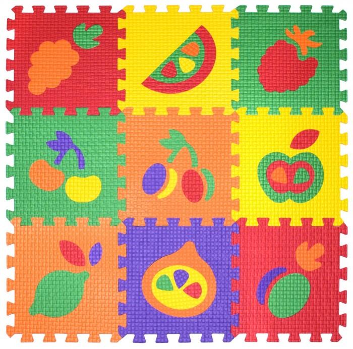 Игровой коврик Janett Мягкий детский конструктор Фрукты 33x33x0.9 см