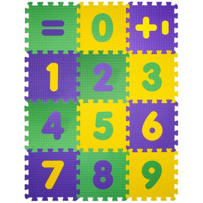 Игровой коврик Janett Мягкий детский конструктор Математика 33x33x0.9 см