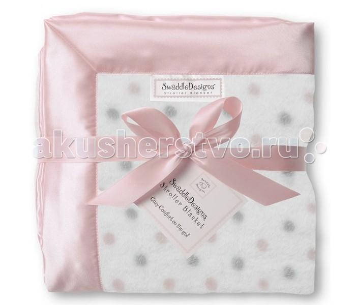 Пледы SwaddleDesigns для новорожденных Stroller Blanket детский плед swaddledesigns stroller blanket pink puff circles sd 168p