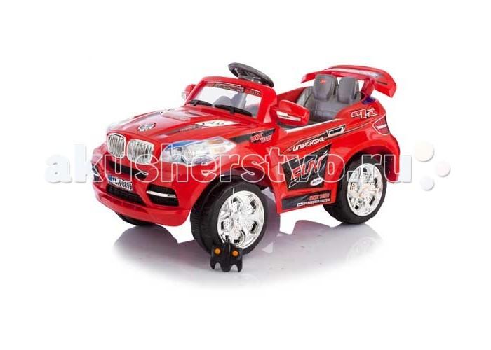 Электромобиль Jetem SWXSWXЭлектромобиль Jetem SWX – настоящий внедорожник среди электромобилей. Благодаря резиновым накладкам на колесах существенно улучшается сцепление с дорогой и проходимость.    Электромобиль снабжен двумя двигателями по 35W на задней оси, которые питаются от двух 6V аккумуляторов. При движении вперед машина может двигаться в двух режимах: 3 км/ч и 8 км/ч. При езде задом максимальная скорость 4 км/ч.   Помимо превосходных ходовых качеств Jetem SWX понравится ребенку своим стильным дизайном со множеством узнаваемых деталей реальных автомобилей. У электромобиля загораются фары, а в движение он приводится педалью под правой ногой.  Характеристики электромобиля Jetem SWX: Рекомендован для детей от 3 до 8 лет Аккумулятор: два 6V аккумулятора Время работы аккумулятора: до 3 часов Время зарядки аккумулятора: 10-12 часов Дальность действия ПДУ: ~25 метров Коробка передач: 2 скорости вперед, 1 скорость назад Максимальная скорость: до 8 км/ч Размеры электромобиля: 117x77x80 см Максимальная нагрузка: 30 кг Вес: 21,5 кг<br>