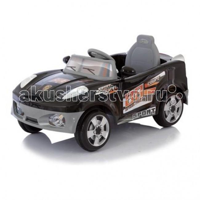 Электромобиль Jetem CoupeCoupeJetem (Capella) Coupe - мощный спортивный электромобиль на аккумуляторе. Рекомендована для детей от 1 года до 6 лет. Скорость движения - 5 км час. Для коррекции движения родителями - пульт дистанционного управления.  Особенности: один двигатель DC 6V, работающий от аккумулятора 6В, 4,5 а/ч пульт дистанционного управления питается от двух батареек типа АА 1,5V скорость движения 5 км/ч время работы аккумулятора 1-2 час, время зарядки аккумулятора 8-12 часов ремни безопасности резиновые накладки на колесах опция включения-выключения фар разъем для подключения MP3-плеера или радио двигается во всех направления световые и звуковые эффекты  Максимальная нагрузка 30 кг. Рекомендован для детей от 1 до 6 лет. Размеры: 115х58х50 см<br>