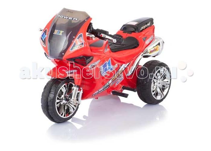 Электромобиль Jetem Super SportSuper SportJetem Super Sport – качественный детский трицикл, воплощенный в спортивном дизайне. Этот вид транспорта несомненно сумеет украсить и разнообразить детскую прогулку.  Размеры электромобиля (д*ш*в) 96x51x59 см Вес 8 кг  Ребенок обязательно оценит большое количество звуковых эффектов, встроенных в мотоцикл. Есть возможность подключить даже mp3 плеер.  Колеса с резиновыми накладками обеспечивают отличное сцепление сдорогой и не скользят даже на влажной поверхности. Мотоцикл питается от 6v аккумулятора, заряда которого хватает почти на 2 часа непрерывной работы. Есть возможность ездить не только вперед, но и назад, развивая скорость до 3 км/ч.  Характеристики:  Аккумулятор 6V Время работы аккумулятора до 2 часов Время зарядки аккумулятора 8-12 часов Коробка передач 1 скорость вперед, 1 скорость назад Максимальная скорость до 2,5 км/ч Комплектация: зарядное устройство.<br>