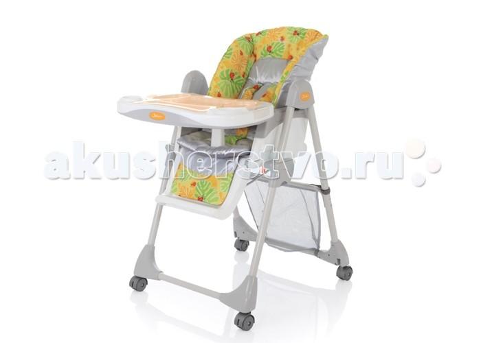 Стульчик для кормления Jetem EnjoueEnjoueСтульчик для кормления Jetem Enjoue – стульчик для кормления элегантного дизайна с возможностью наклона спинки до лежачего положения.  Стульчик комплектуется сеткой для игрушек на раме и подносом-столешницей из прозрачного пластика. Стул легко и компактно складывается и может стоять в сложенном виде.  Особенности: 5 уровней высоты кресла; 5 положения наклона спинки вплоть до лежачего положения ; 5-ти точечные ремни безопасности и ограничитель; 3 положения глубины столешницы; съемная дополнительная прозрачная столешница; регулируемая подножка; сетка для игрушек; стульчик легко складывается и устойчив в сложенном виде.  Вес стульчика: 11,6 кг Размер стульчика в собранном состоянии: 92х58х115 см; Размер стульчика в сложенном состоянии: 58х25х92 см; Ширина сиденья: 37 см; Размер упаковки: 59х25,5х86 см; Вес упаковки: 13,2 кг; Рекомендовано для детей от 6 месяцев до 6 лет. В цветах Mandarin, Lime, Apricot используется дополнительная хлопковая подкладка в чехле сиденья, чтобы сделать его мягче.<br>