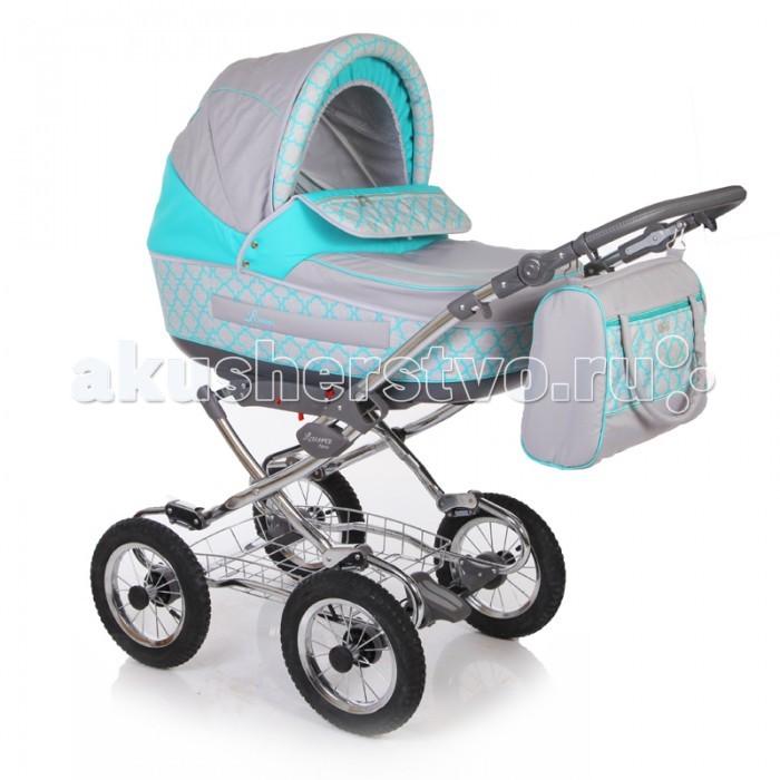 Коляска Jetem Laura 2 в 1Laura 2 в 1Коляска Jetem Laura 2 в 1 удобная детская коляска на класcической раме подойдет как для лета, так и для зимы. Коляска отличается отличной проходимостью и мягкой амортизацией. Предназначена для детей от 0 до 3 лет.  Люлька:  Для детей от 0 до 6-8 месяцев; Теплая, закрытая люлька достаточно большого размера, подойдет не только для летнего периода, но и для холодной зимы; Короб с платиковым днищем; Спинка внутри люльки регулируется; Съемная х/б подкладка люльки с возможностью стирки; Большой съёмный капюшон с москитной сеткой в отстёгиваемом сегменте обивки; Удобная ручка для переноски встроена в капор, обтянута эко-кожей;  Прогулочный блок:  Для детей от 6 месяцев и примерно до 3-х лет; Сиденье ставится на раму в 2-х направлениях: по ходу движения, против хода движения; Спинка регулируется до горизонтального положения; Удобное, широкое посадочное место; Подножка регулируется; Встроенные пятиточечные ренми безопасности удержат маленького непоседу в коляске; Бампер съемный; Капор общий для люльки и сиденья;  Шасси:  Алюминиевая хромированная рама; Удобная цельная ручка с обивкой из эко-кожи; Ручку можно отрегулировать по высоте под свой рост; Мягкая подвеска передней и задней оси; Надежный тормоз на задней оси;<br>