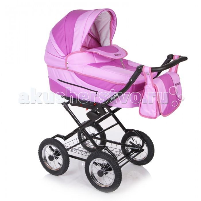 Коляска Jetem Nino 2 в 1Nino 2 в 1Коляска Jetem Nino 2 в 1 - стильная многофункциональная коляска новейшей конструкции для детей с рождения до трёх лет. Модель выполнена в современном дизайне на классической  раме, с  возможностью установки автомобильного кресла.   Конструкция рамы имеет мягкую подвеску передней и задней оси, удобную, регулируемую по высоте ручку, с обшивкой из эко кожи, а так же – большую, металлическую вместительная корзину-сетку для покупок.   Регулируемая по высоте ручка. Прогулочный блок очень удобный и вместительный, с регулируемыми подножкой и спинкой (до положения лёжа). А спинку люльки можно регулировать изнутри, при помощи специальной системы. Капоры люльки и прогулочного блока оснащены тихой системой регулировки.  Имеют складной, солнцезащитный козырёк, отстёгиваемый сегмент обивки, под которым находится большое вентиляционное окно с москитной сеткой, что особенно важно в жаркие летние дни. Оба модуля коляски, устанавливаются на раме поочерёдно, в двух направлениях – лицом, либо спиной по направлению движения.   Коляска удобна и проста в обслуживании, благодаря простой системе монтажа модулей на раму.  ВАЖНО!  Расцветки NN6 - NN11 комплектуются 2-мя капорами (для люльки и прогулочного блока). Люльки с полозьями для укачивания и стоперами.<br>