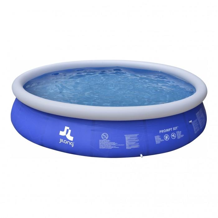 Бассейн Jilong Prompt Set Pools 420x84 см с фильтр-насосомPrompt Set Pools 420x84 см с фильтр-насосомБассейн Jilong Prompt Set Pools 420x84 см с фильтр-насосом предназначен для купания и водных развлечений.   Особенности: Он сделан из высокопрочного материала и рассчитан на длительную эксплуатацию В сложенном виде изделие имеет небольшие размеры, что позволяет взять его с собой на любой отдых Объем: 8652 литра Специальная несущая конструкция для сохранения пространственной стабильности Сборка бассейна 10-15 минут Надувается только верхняя часть бортика Очень прочный 3-х слойный материал Самоклеящаяся заплатка в комплекте Фильтр-насос в комплекте  Картридж в комплекте Для замены картиджа рекомендуется картридж JILONG JL290587N Для предотвращения загрязнения воды в бассейне рекомендуется приобрести чехол.<br>