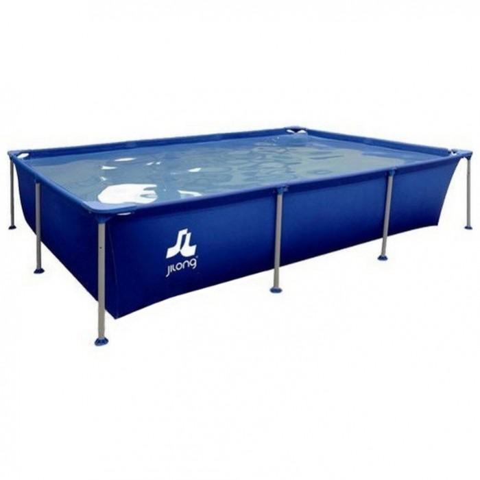 Летние товары , Бассейны Jilong Rectangular Stell Frame Pools 258x179x66 см с фильтр-насосом арт: 488921 -  Бассейны