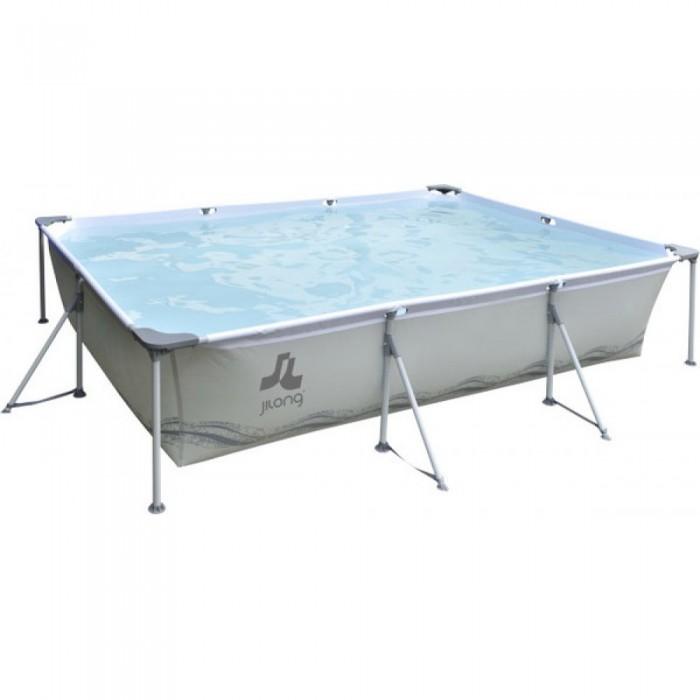 Бассейн Jilong Rectangular Stell Frame Pools 394x207x80 см с фильтр-насосом