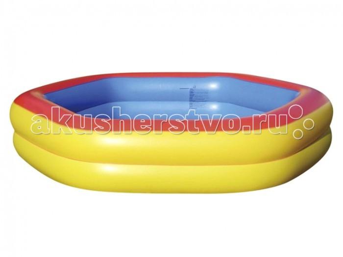 Летние товары , Бассейны Jilong семейный Giant Hexagon Pool 230x230x45 см арт: 488816 -  Бассейны