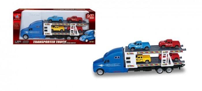 Купить Машины, Jinjia Toys Автовоз инерционный с 4-мя машинками JB0403280