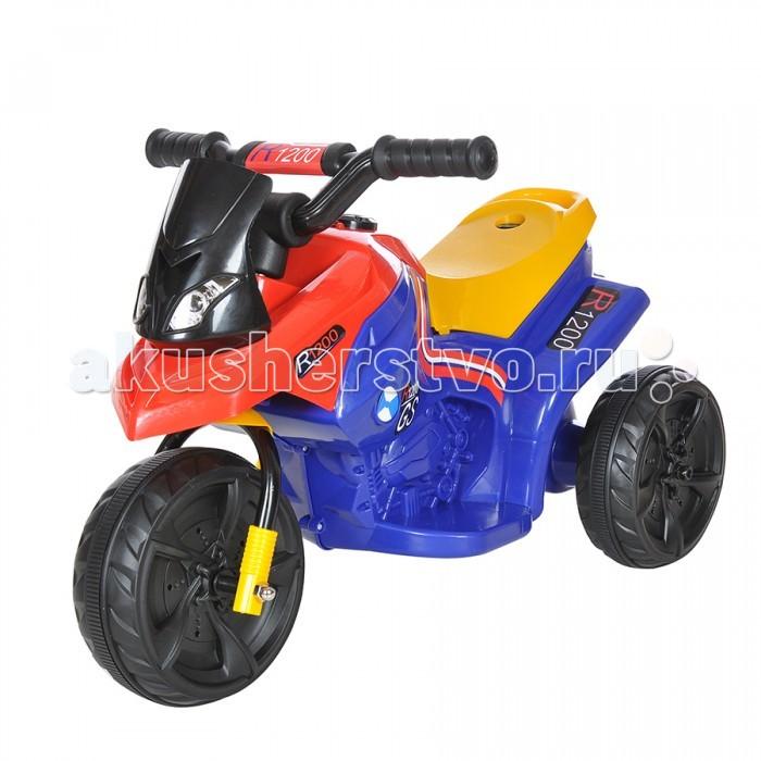Электромобиль Jinjianfeng TR1406TR1406Электромотоцикл Jinjianfeng TR1406 приведет в восторг любого ребенка. Он предназначен для комфортной езды в парке, сквере и детской площадке. Электромотоцикл оснащен звуковым сигналом и световыми эффектами.  Особенности: модель выполнена из высококачественного и износоустойчивого пластика и металла, устойчивого к ударам; для того чтобы мотоцикл поехал, нужно надавить на педаль; может двигаться в двух направлениях - вперед и назад, развивая при этом скорость до 5 км/ч; заряжается от аккумулятора 6V 4.5Ah в течении 8-12 часов; полностью заряженный мотоцикл может работать до 2-х часов; для того чтобы ребенок мог чувствовать себя увереннее, у модели предусмотрены удобные подставки для ног; максимальная нагрузка — 30 кг. В комплекте с мотоциклом идет аккумулятор и зарядное устройство. Размер: 66 x 28 x 32 см.<br>
