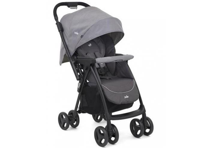 Прогулочная коляска Joie MirusПрогулочные коляски<br>Прогулочная коляска Joie Mirus - легкая и практичная коляска от рождения до 3-х лет (до 15 кг), спроектированная специально для вашего комфорта и простоты в использовании   Удобная перекидная ручка позволит вашему ребенку видеть мир со всех сторон. Перекидная ручка позволяет в считанные секунды развернуть вашего ребёнка и укрыть его от ветра, снега и дождя. Высококачественный алюминий придает коляске прочность и лёгкость (6,8кг). Мягкий материал 5-точечного ремня безопасности обеспечивает малышу уют и комфорт.  Многопозиционный, полностью раскладывающийся механизм кресла позволяет опускать спинку до горизонтального положения одним движением руки. Отсутствие шероховатости на педали тормоза позволяет вашей обуви оставаться невредимой.   Особенности:   Складной механизм коляски имеет автоматический замок-фиксатор, предотвращающий ее произвольное раскрытие при транспортировке и хранении. Сложенную коляску можно хранить в вертикальном положении без опоры.  Механизм наклона спинки позволяет поменять положение ребенка с сидячего на лежачее всего одним движением руки.  Самая полная комплектация! Регулируемое сиденье, регулируемый по высоте ремень безопасности, перекидная ручка, большая корзинка для покупок, большой капюшон.  Сварное алюминиевое шасси и высококачественный пластик позволяют нашей коляске быть прочной, упругой и лёгкой.   Совместима с автокреслом Gemm без приобретения дополнительных адапторов.