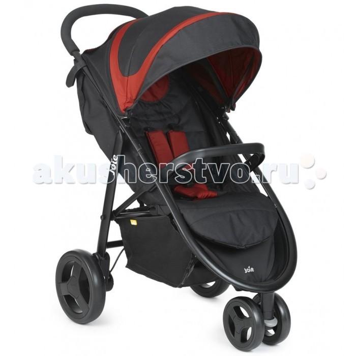 Прогулочная коляска Joie Litetrax 3Litetrax 3Прогулочная коляска Joie Litetrax 3 – это легкая, устойчивая трехколесная прогулочная коляска, комфортная для малыша и удобная для родителей. Благодаря компактным габаритам, относительно небольшому весу и удобной системе складывания она отлично подходит для прогулок по городу и путешествий на любом транспорте. Модель предназначена для детей с рождения и до 15 кг.  Пятиточечные ремни безопасности с мягкими плечевыми накладками. Бампер у Joie Litetrax 3 полностью снимается, чтобы было удобно сажать ребенка. Большой капюшон с 3х ступенчатой системой открывания. Он закрывает малыша до самого бампера. На теплое время года есть целых два вентиляционных окошка, одно из которых является также и смотровым. А когда маленький пассажир уснет, просто опустите спинку и поднимите подножку, чтобы создать просторное спальное место.  Колеса выполнены из вспененной резины, передние из которых сдвоенные и поворотные с возможностью фиксации, обеспечивают комфортную прогулку даже по труднопроходимым участкам дороги. Litetrax 3 обладает хорошей амортизацией на всех трех колесах.  Коляска очень просто складывается книжкой, в сложенном состоянии ее можно переносить за специальную ручку. Педаль тормоза находится рядом с правым колесом. Перемычка между колес расположена высоко. Поэтому вы не будете цепляться за нее и не испортите обувь.  Алюминиевая рама имеет простую конструкцию, в ней нет ничего лишнего, поэтому изделие в целом имеет малый вес. Пластик, из которого выполнены некоторые детали, хорошего качества, его гладкая поверхность легко моется.  Особенности: Группа: от рождения до 3х лет (до 15 кг).  Складывается одним движением руки.  Компактна в сложенном состоянии.  Вентилируемое окно на капоре.  Большая и легкодоступная корзина.  Съёмный бампер для защиты ребёнка.  Мягкая накладка на бампере.  Подножка регулируется в 3-х положениях.  Сдвоенные передние колёса с возможностью блокировки.  В комплекте дождевик.  Совместима с автокреслом Gemm