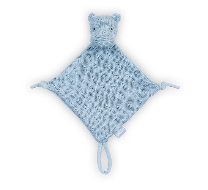 Комфортеры Jollein Вязаная игрушка платочек Гиппопотам пледы jollein байковый с рисунком 75х100 см