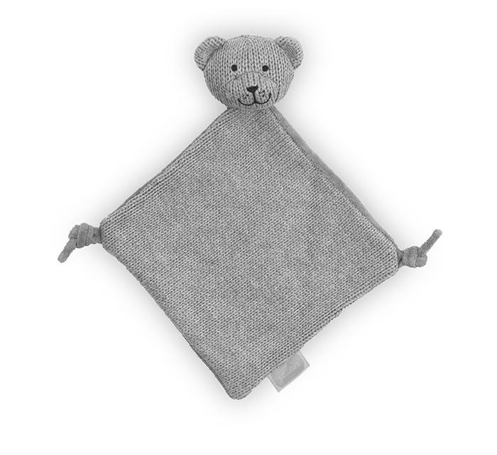 Комфортеры Jollein Вязаная игрушка платочек Мишка пледы jollein байковый с рисунком 75х100 см