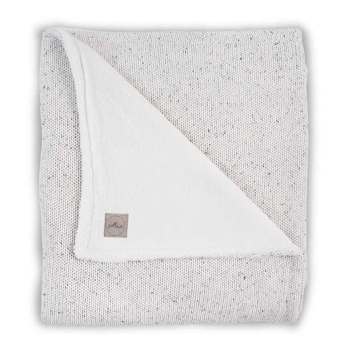 Плед Jollein Вязаный с мехом Confetti knit 100x150 см