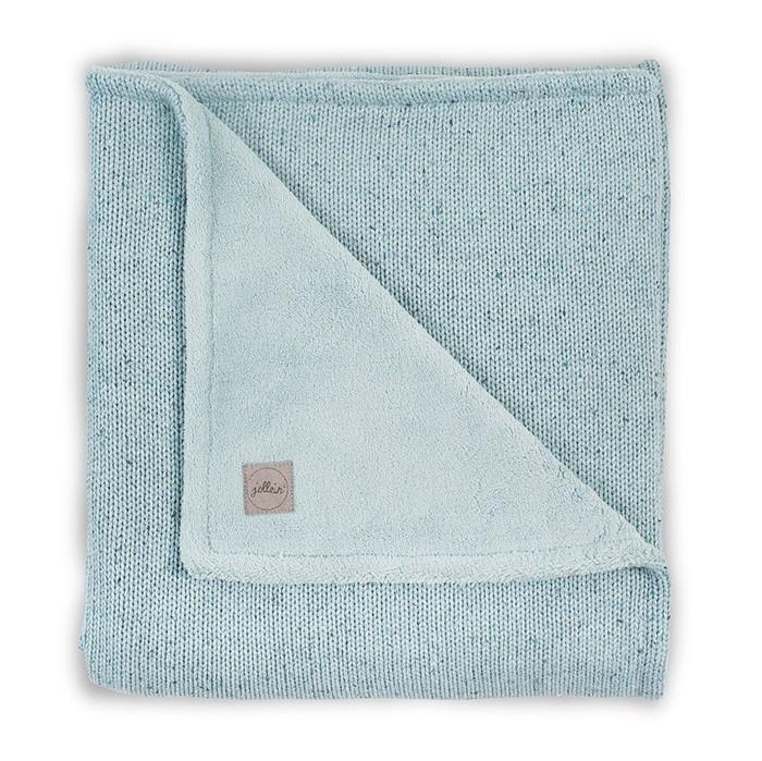 Пледы Jollein Вязаный с мехом Confetti knit 100x150 см вязаный плед с мехом 100х150 см jollein stonewashed knit navy