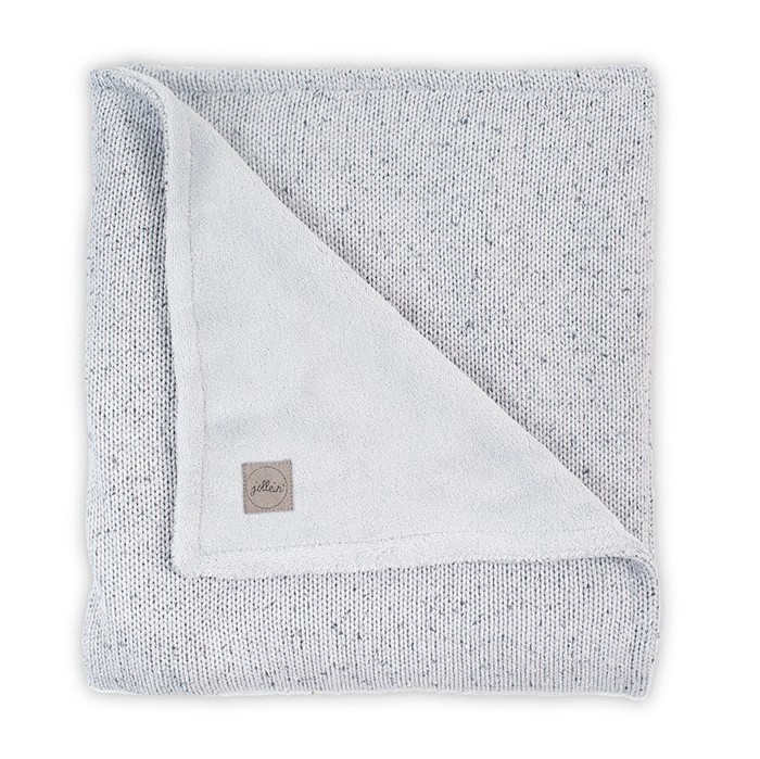 Пледы Jollein Вязаный с мехом Confetti knit 100x150 см варежки  перчатки и шарфы jollein шарф confetti knit