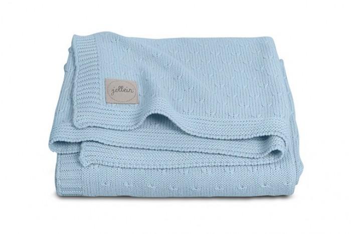 Пледы Jollein Вязаный Soft knit 100х150 см вязаный плед с мехом 100х150 см jollein stonewashed knit navy