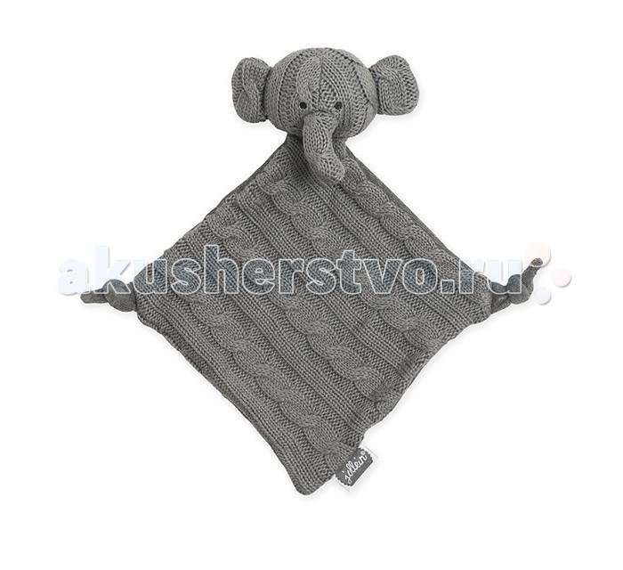 Комфортеры Jollein Мягкая игрушка платочек Слоник 23x13x5 см пледы jollein байковый с рисунком 75х100 см