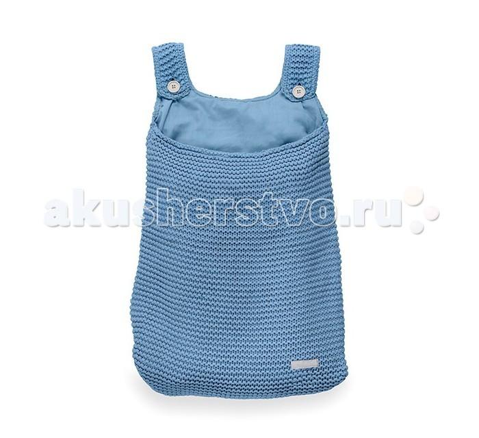 Jollein Сумка на кроваткуСумка на кроваткуВ такой сумке можно хранить пижаму, игрушки, или даже постельное белье, салфетки, полотенце. Приносит порядок и стиль в детское пространство.  Размер:  50х40 см  Материал:  50% хлопок, 50% акрил<br>
