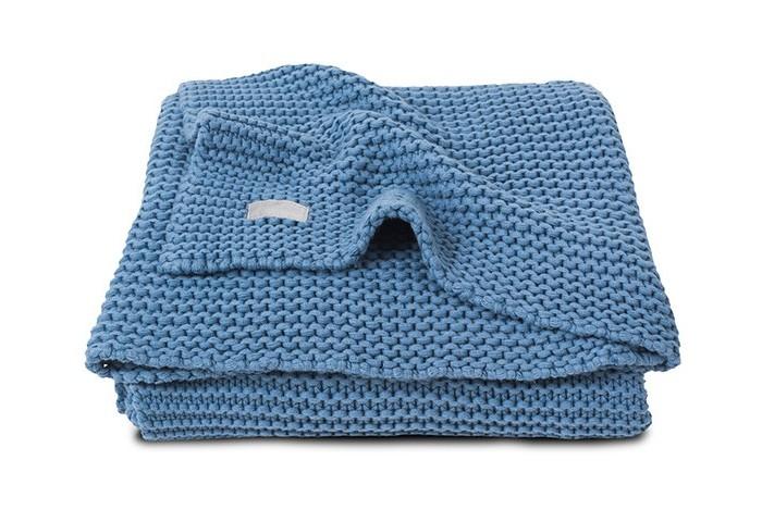 Пледы Jollein вязаный 100х150 см вязаный плед с мехом 100х150 см jollein stonewashed knit navy