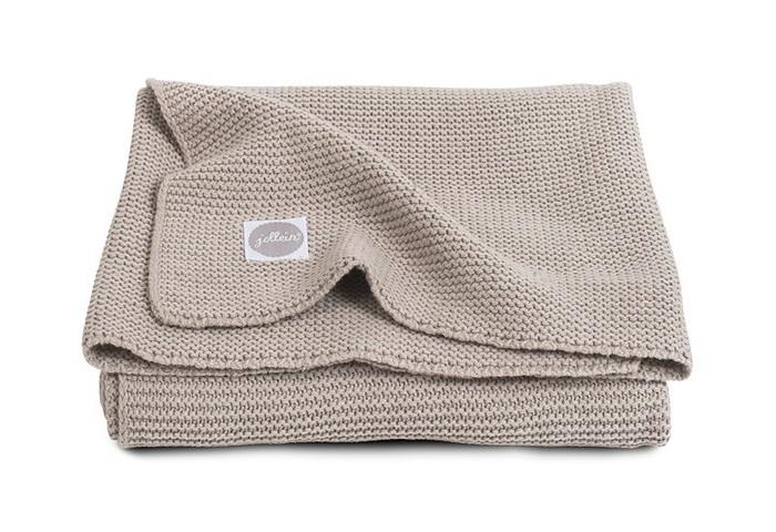 Пледы Jollein Вязаный Basic knit 75х100 варежки  перчатки и шарфы jollein шарф confetti knit