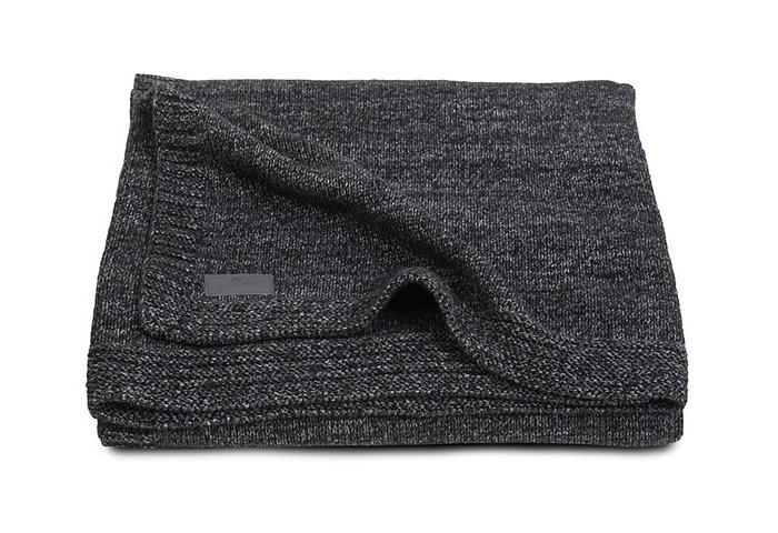 Пледы Jollein Вязаный Natual knit 75х100 см вязаный плед с мехом 100х150 см jollein stonewashed knit navy