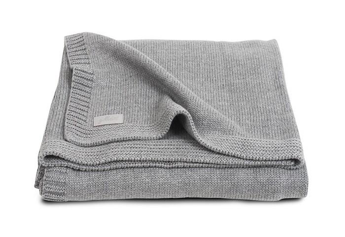 Пледы Jollein Вязаный Natual knit 100х150 варежки  перчатки и шарфы jollein шарф confetti knit