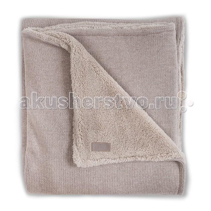 Плед Jollein Вязаный с мехом Natural knit anthracite 75х100