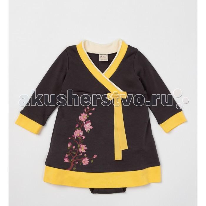 Детская одежда , Боди и песочники Ёмаё Боди-платье для девочки Сакура 24-290 арт: 542126 -  Боди и песочники
