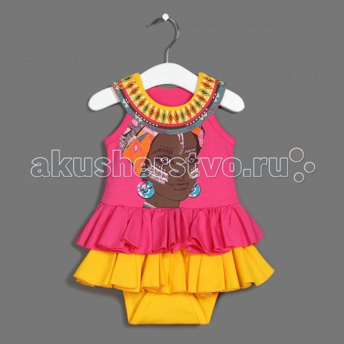 Детская одежда , Боди и песочники Ёмаё Боди-платье Танцы на песке 24-603 арт: 542026 -  Боди и песочники