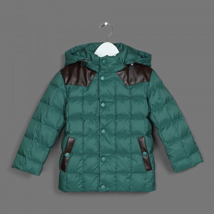Ёмаё Куртка для мальчика 39-142Куртка для мальчика 39-142Ёмаё Куртка для мальчика 39-142 из тонкой и прочной курточной ткани (100% нейлон), с водо- и грязе- отталкивающими пропитками.  утеплитель - натуральный пух (85% пух, 15% - перо), плотность набивки 220 гр/м.кв. По горловине  - внутренняя трикотажная стойка, по низкам рукавов - трикотажные манжеты,защищающие ребёнка от ветра. По низу куртки и по лицевому срезу капюшона предусмотрена регулировка с помощью шнура-резинки и фиксаторов, которая также способствует защите от ветра. Застёжка куртки с ветрозащитной планкой на молнию и кнопки.   Температурный режим до минус 30 градусов. Состав: 100% нейлон  Уход: химчистка<br>