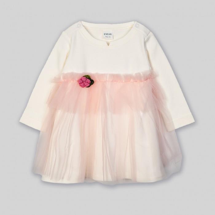 Ёмаё Платье Девочки 0-2 Облако ванили 12-100