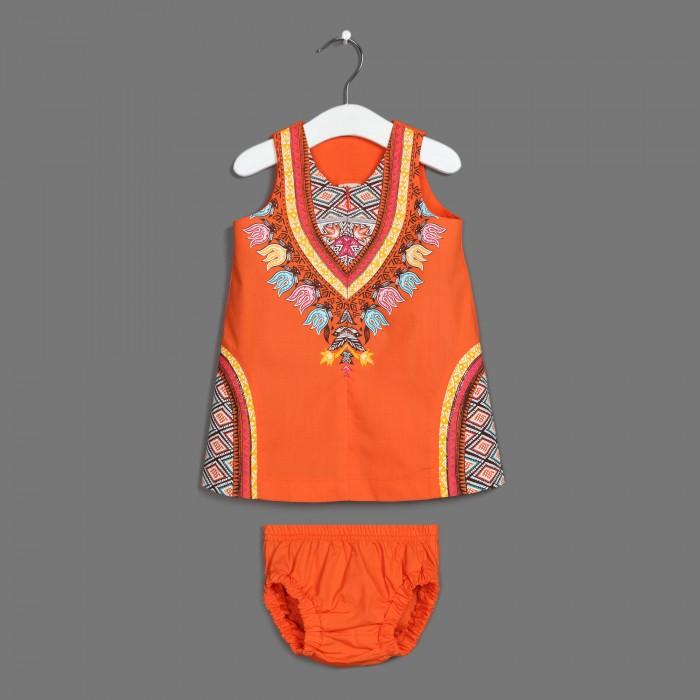 Детская одежда , Комплекты детской одежды Ёмаё Платье с трусиками Танцы на песке 12-921 арт: 542081 -  Комплекты детской одежды